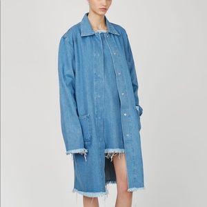 MARQUES ALMEIDA Long Denim Jacket Work Chore Coat